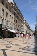 Stock Photo of Portugal, the pedestrian Augusta street in Lisbon