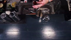 Bartender Adding Cocktail Alcohol Stock Footage
