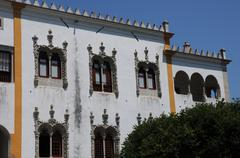 Portugal, the historical  National Palace in Sintra - stock photo