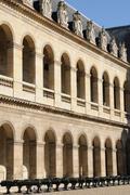 Les Invalides, army museum in Paris - stock photo