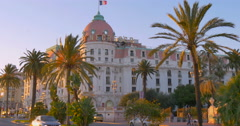 Nice Nizza south France Le Negresco Hotel old town Cote'd Azur french riviera Stock Footage