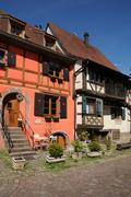 The village of Kaysersberg in Alsace Stock Photos