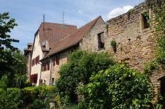 Stock Photo of the village of Rouffach  in Alsace