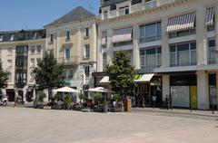 Place des epars in Chartres in Eure et Loir - stock photo