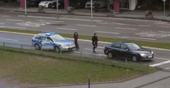 Police in traffic Stock Footage