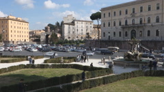 mouth of truth square Rome Italy - stock footage