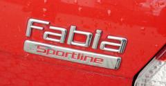 Skoda Fabia Sportline Red sport car Stock Footage