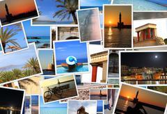 Collection of Crete island photos Stock Photos