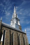 Stock Photo of Canada, Quebec, the church of Rimouski