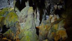 Tham Phu Kham Cave at Blue Lagoon in Vang Vieng, Laos Stock Footage