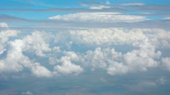 Cumulus and Stratus Clouds from Airborne Perspective Stock Footage