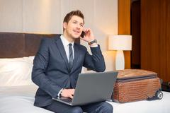 Businessman in the luxury hotel - stock photo
