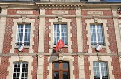 Ile de France, the city of Gasny Stock Photos