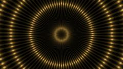 Abstract loop motion background, gold kaleidoscope light Stock Footage