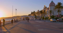 Nice or Nizza is the fifth most populous city in France - stock footage