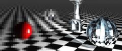 Checkered  art composition Stock Illustration
