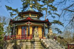 Chinese house of Cassan in L Isle Adam Stock Photos