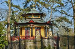 chinese house of Cassan in L Isle Adam - stock photo