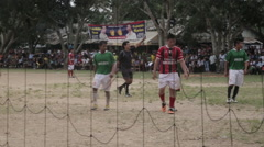 Referee during a match in the jungle Stock Footage