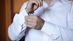 groom dress shirt and tie - stock footage