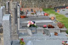 Cemetery of Pornichet in Loire Atlantique Stock Photos