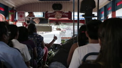 Riding a bus in Iquitos Stock Footage