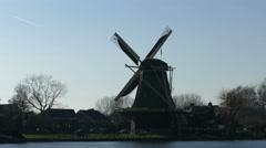 Classic Dutch Windmill - stock footage