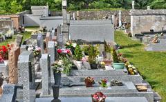 cemetery of Pornichet in Loire Atlantique - stock photo