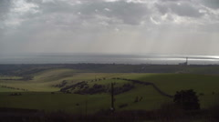 The South Downs and Sun Rays Stock Footage