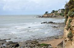 France,  Saint Marc sur Mer in  Loire Atlantique Stock Photos