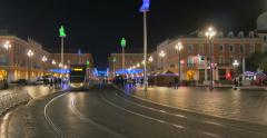 Contemporary tramway in Nice Stock Footage