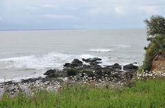 France,  Saint Marc sur Mer in  Loire Atlantique - stock photo