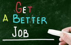 get a better job - stock photo