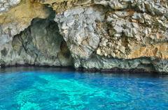 Malta, the picturesque site of Blue Grotto - stock photo