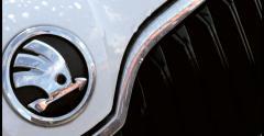 Skoda car logo Stock Footage