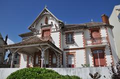 city of Le Pouliguen in  Loire Atlantique - stock photo