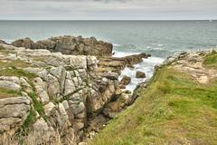 Bretagne, La Cote Sauvage in Batz sur Mer - stock photo