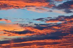 Heavenly landscape in scarlet - stock photo