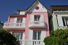 picturesque city of Pornichet in Loire Atlantique - stock photo