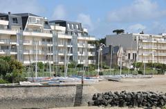 city of La Baule Escoublac in Loire Atlantique - stock photo