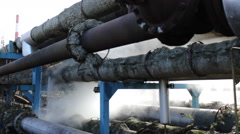 Toxic pipes industrial toxic waste factory Thermal - stock footage