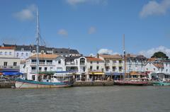 picturesque city of Pornic in Loire Atlantique - stock photo