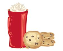 chocolate chip biscuit - stock illustration