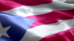 Flag Puerto-Rico - stock footage