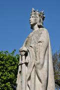 France, a statue of Louis 9 in Poissy in Les Yvelines - stock photo