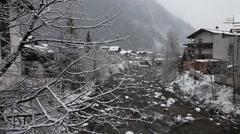 Winter landscape. Mayrhofen, Austria Stock Footage