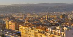 Pan video of Nice or Nizza is the fifth most populous city in France - stock footage