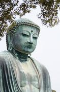 The great Buddha (Daibutsu) in Kamakura , Japan - stock photo