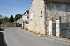 France, the picturesque village of Fremainville in Val d Oise - stock photo