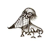 Fantasy Animal Caricature Drawing - stock illustration